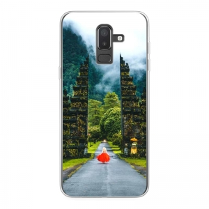 Samsung Galaxy J8 (2018) Soft case (back printed, transparent)