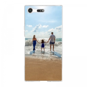 Sony Xperia XZ Premium Soft case (back printed, transparent)
