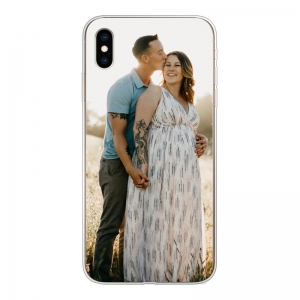 Apple iPhone Xs Max Soft case (back printed, transparent)