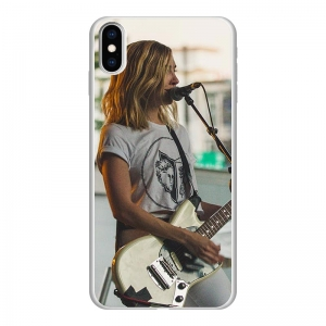 Apple iPhone Xs Max Soft case (back printed, white)