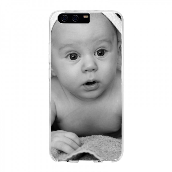 Huawei P10 Soft case (back printed, transparent)