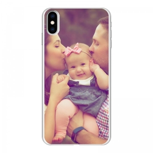 Apple iPhone Xs Max Hard case (back printed, white)