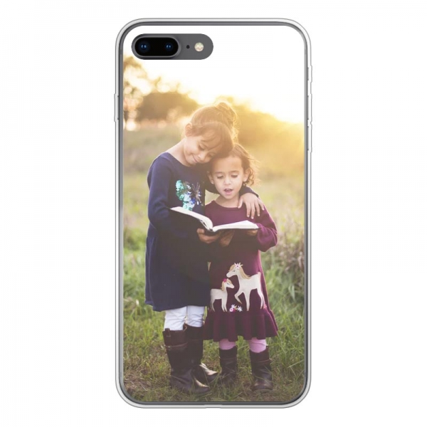 Apple iPhone 7/8 Plus Soft case (back printed, transparent)