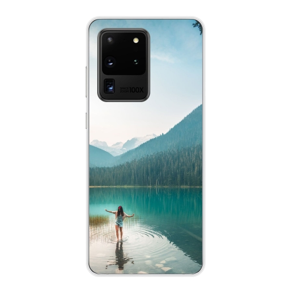 Samsung Galaxy S20 Ultra Soft case (back printed, transparent)
