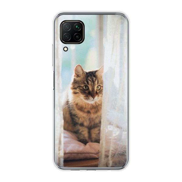 Huawei P40 Lite Soft case (back printed, transparent)