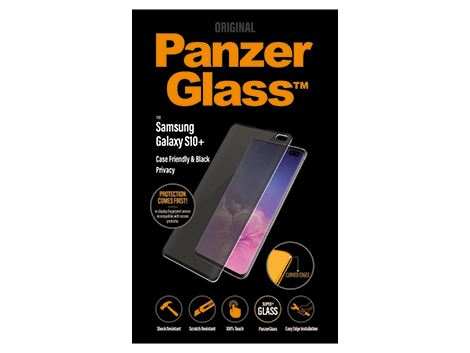 PanzerGlass Samsung Galaxy S10 Plus - Black - Case Friendly