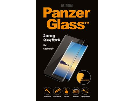PanzerGlass Samsung Galaxy Note 8 - Black - Case Friendly