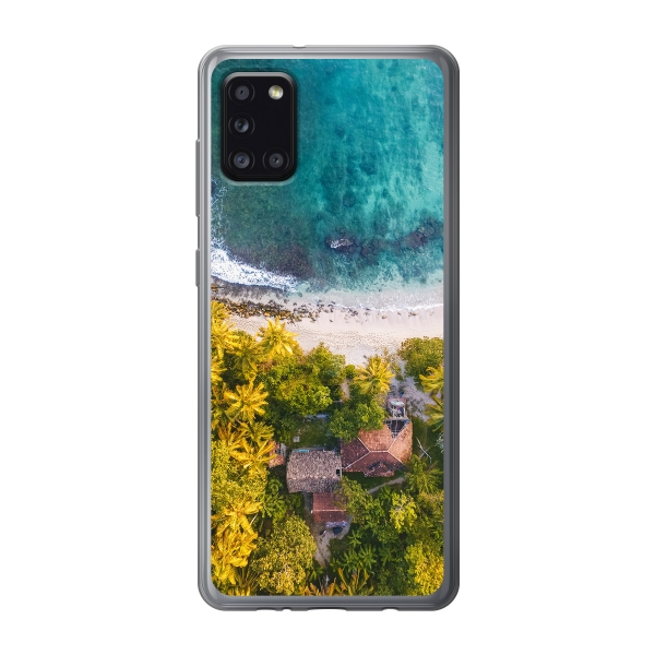 Samsung Galaxy A31 Soft case (back printed, transparent)