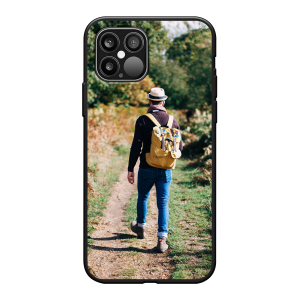 Apple iPhone 12 Pro / iPhone 12 Max Soft case (back printed, black)