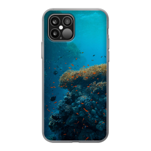 Apple iPhone 12 Pro / iPhone 12 Max Soft case (back printed, transparent)
